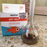 PH тест водного раствора цеофлоры