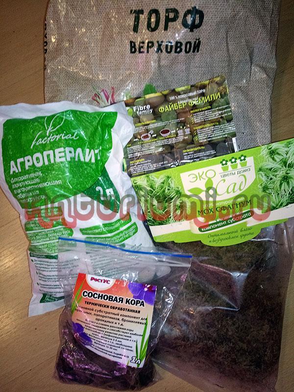 Компоненты почвенной смеси для Антуриума